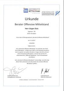 Berater Offensive Mittelstand Jürgen Duis